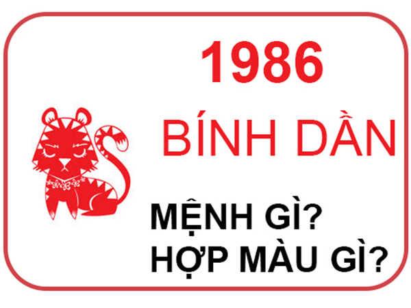 Sinh năm 1986 mệnh gì, hợp màu nào? Tử vi cuộc đời ra sao?