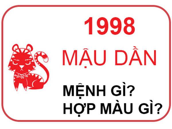 Sinh năm 1998 mệnh gì - Tổng quan tử vi 1998 Mậu Dần
