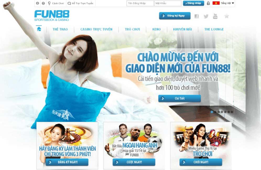 Fun88 - nhà cái trực tuyến hàng đầu châu Á