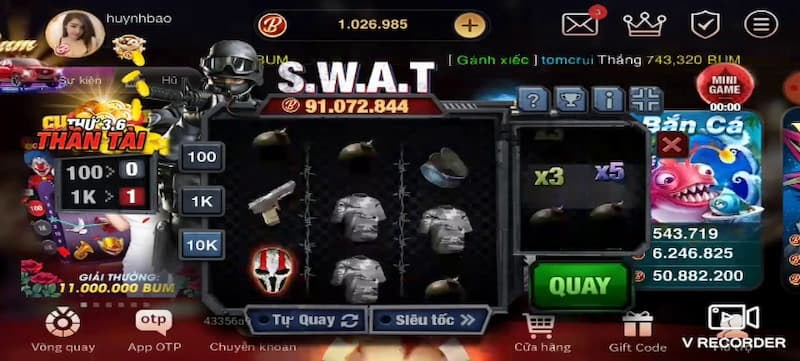 Giao diện Game S.W.A.T